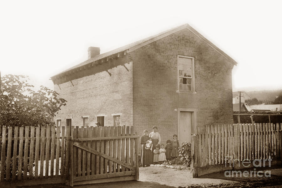 First brick house in California. Built by the Gallant Dickinson  by California Views Archives Mr Pat Hathaway Archives