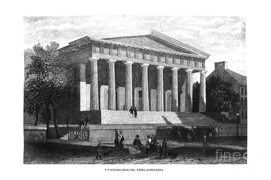 First Century United States illustrations - 1873 - Custom House - Philadelphia - Illustration by Campwillowlake