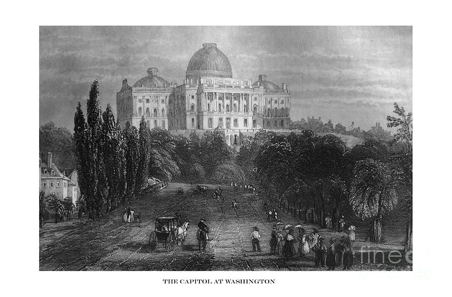 First Century United States illustrations - 1873 - The Capital at Washington before enlargement  by Campwillowlake