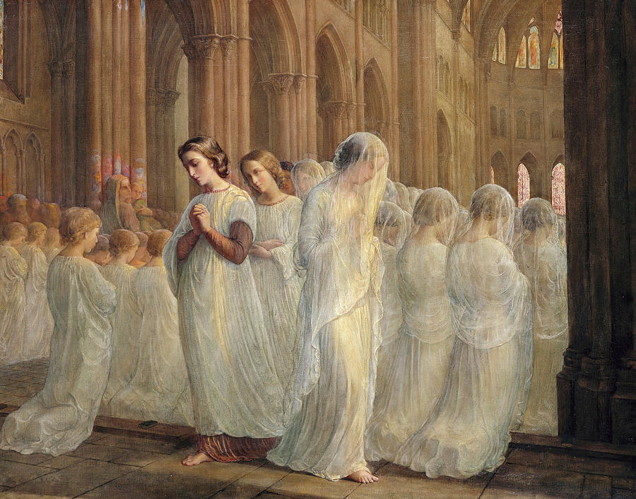 Poem Painting - First Communion, The Poem Of The Soul by Louis Janmot