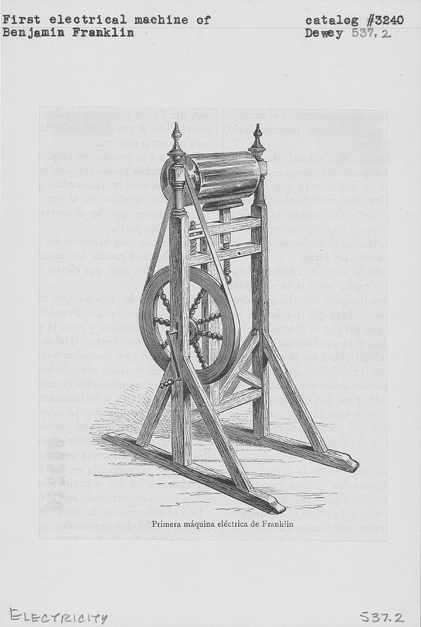 First Electrical Machine Of Benjamin Photograph by Kean Collection