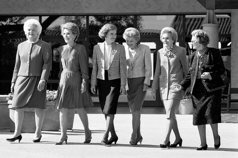 First Ladies Attend Reagan Library Photograph by David Hume Kennerly