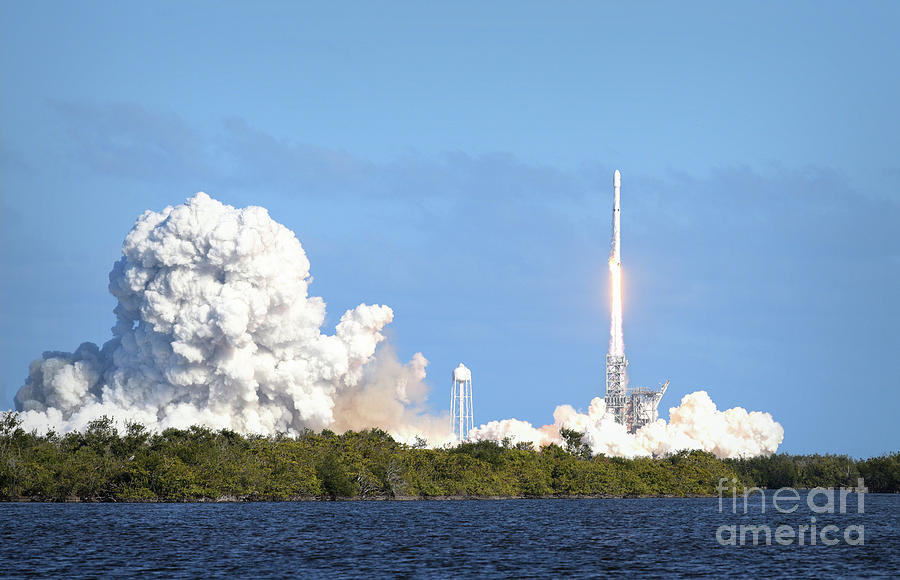 First Launch of the Falcon Heavy by Charles Owens