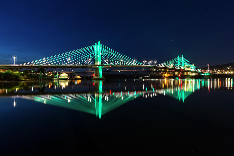 First Lights on Tilikum Crossing by Wes and Dotty Weber