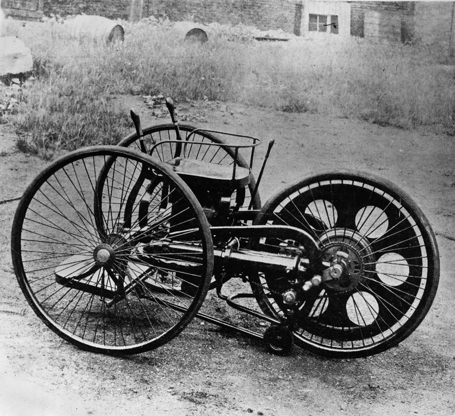 First Motorcycle Photograph by Hulton Archive