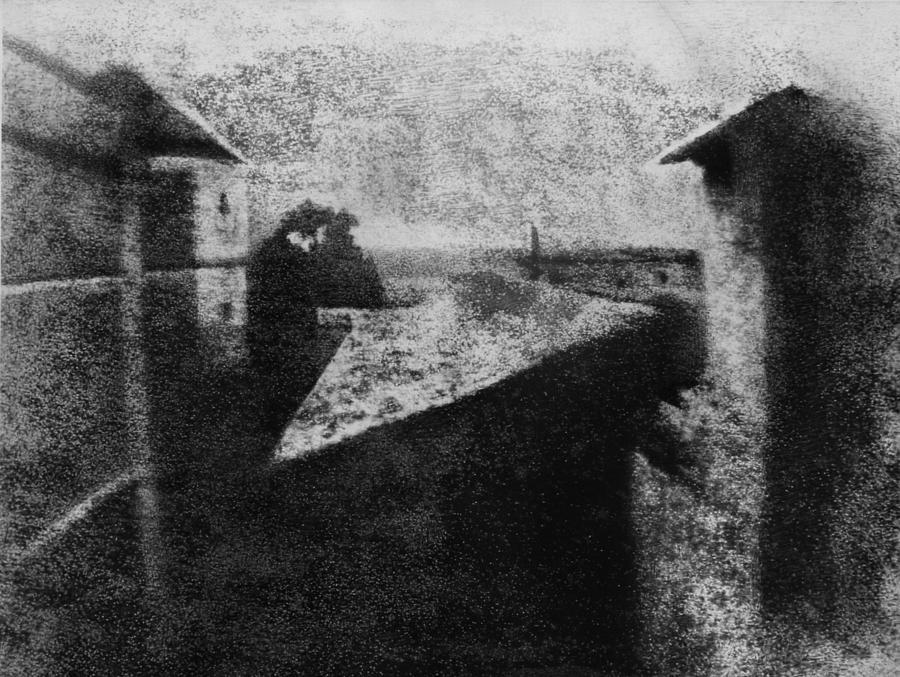 First Photograph Photograph by Joseph Niepce