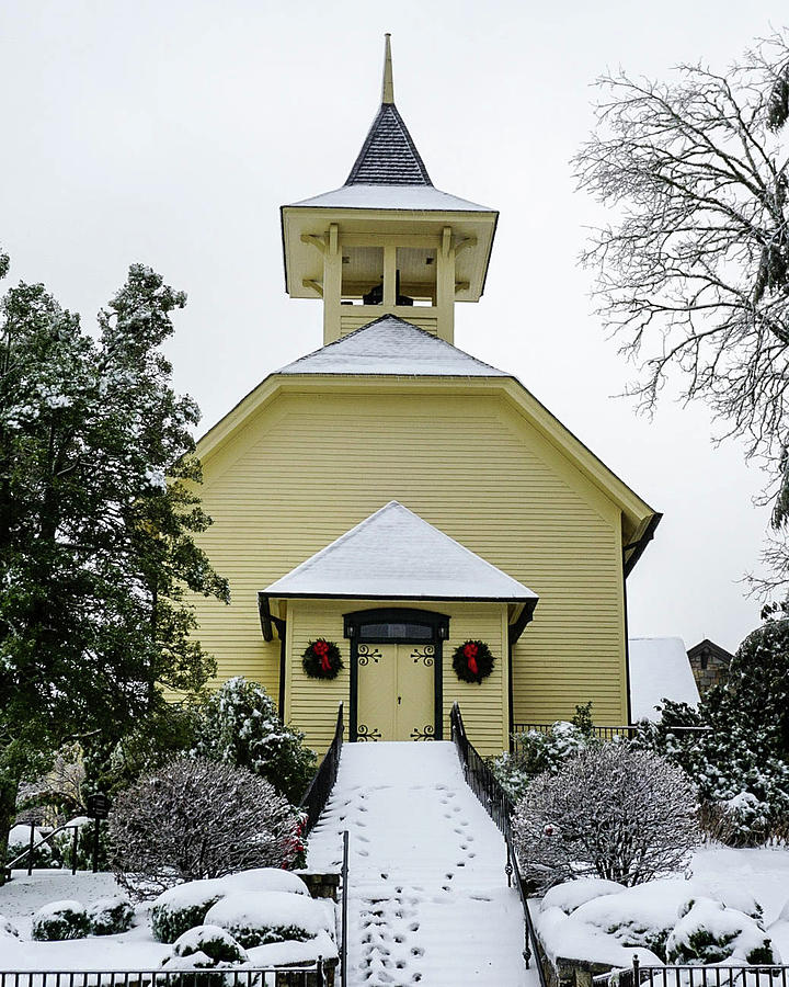 Church Photograph - First Presbyterian Church In The Snow by Seth Solesbee