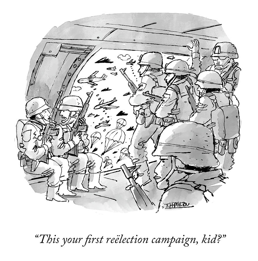 First Reelection Campaign Drawing by Tim Hamilton