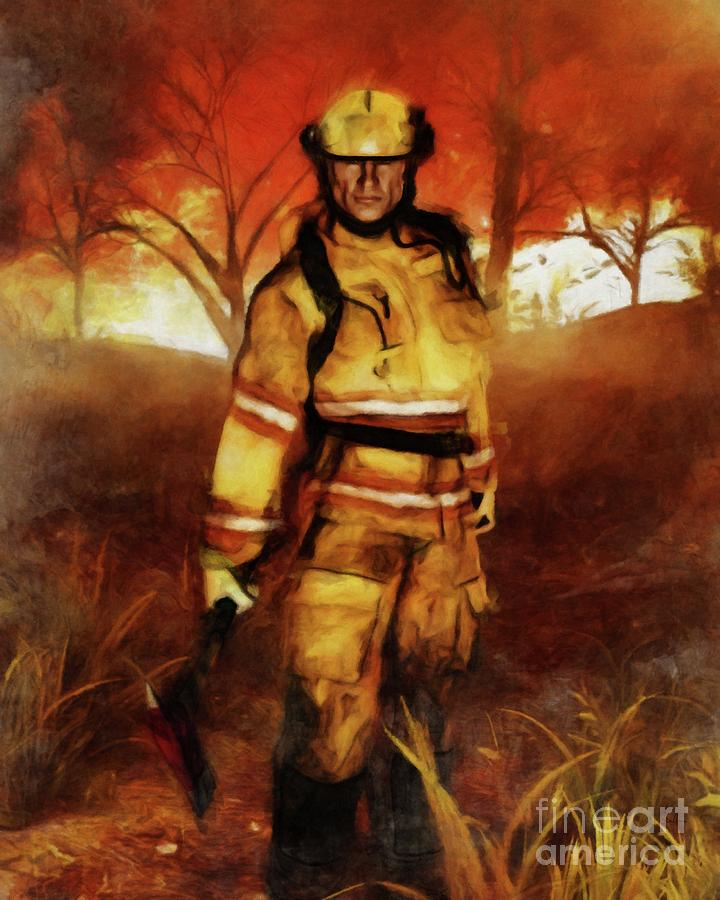 FIRST RESPONDER - Firefighter, Bushfires, Emergency Services by Ben Hoole