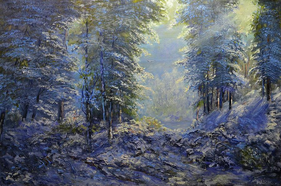 First Snow Fall Painting