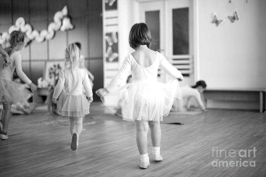 Offspring Photograph - First Steps Of Small Ballerinas by Anna Jurkovska