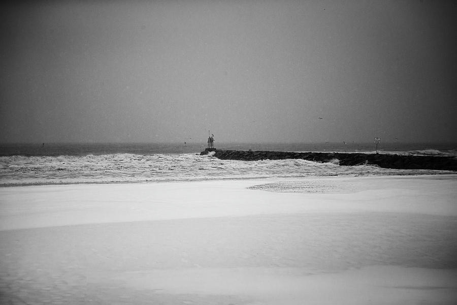 First Street Jetty in the Snow by Pete Federico