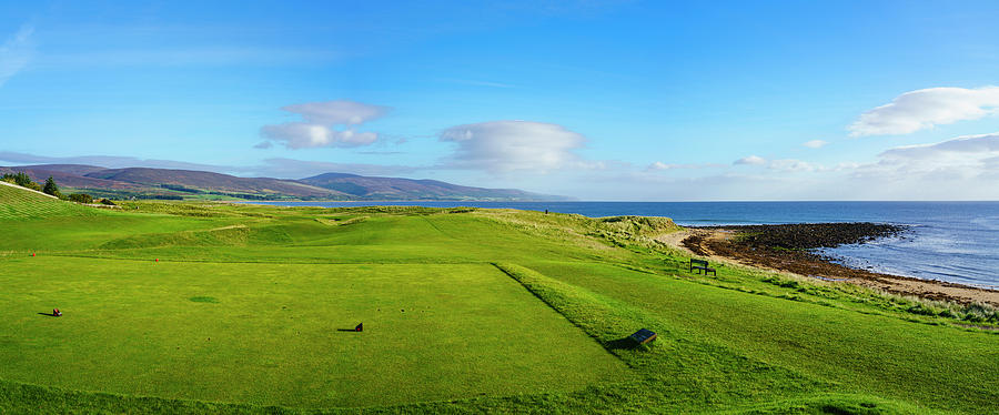 Horizontal Photograph - First Tee At Brora Golf Club, Moray by Panoramic Images