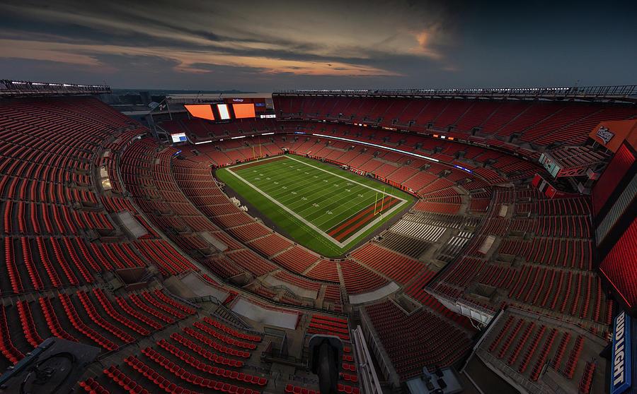 Firstenergy Stadium Photograph - Firstenergy Stadium At Night Color by Robert Hayton
