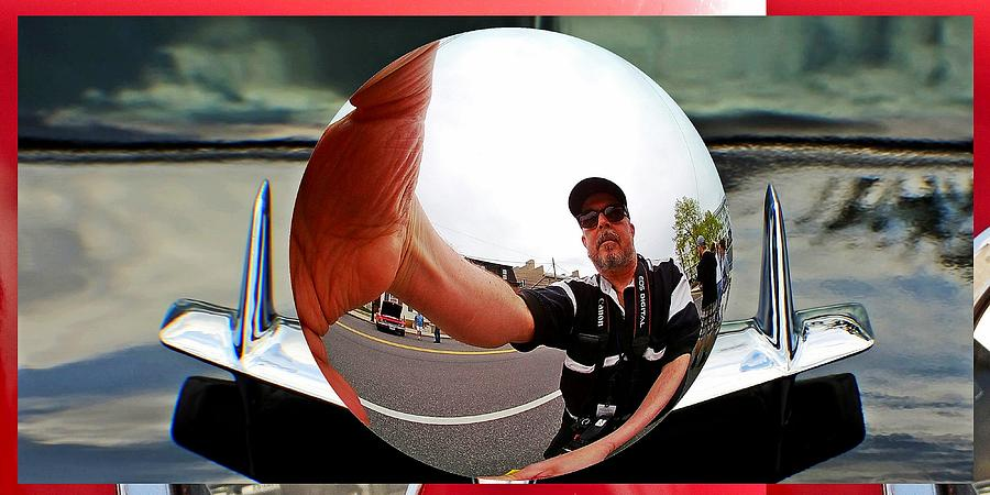 Fish eye selfie by Karl Rose
