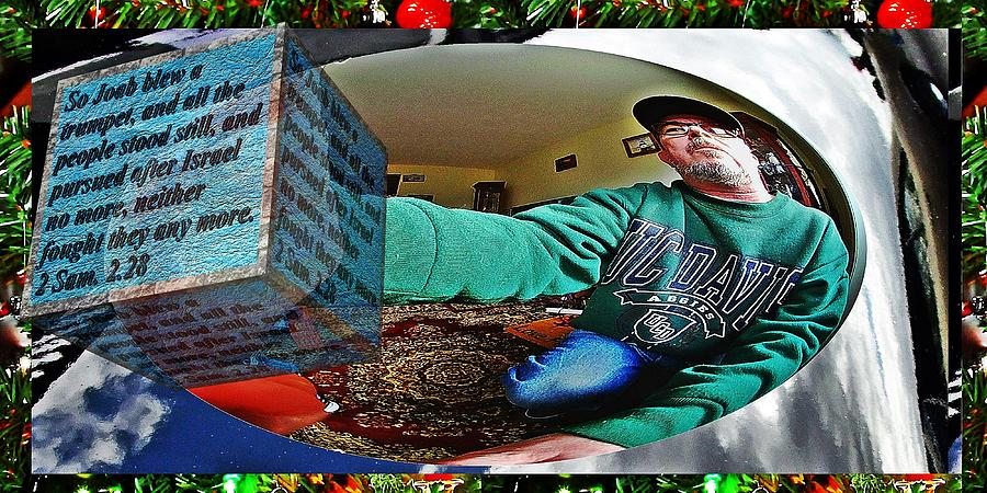 Fish eye selfie with text as a box 2 by Karl Rose