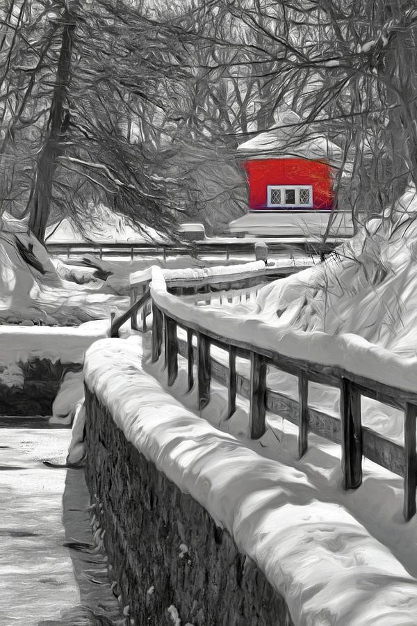 Fish Hatchery in Winter by Nikolyn McDonald