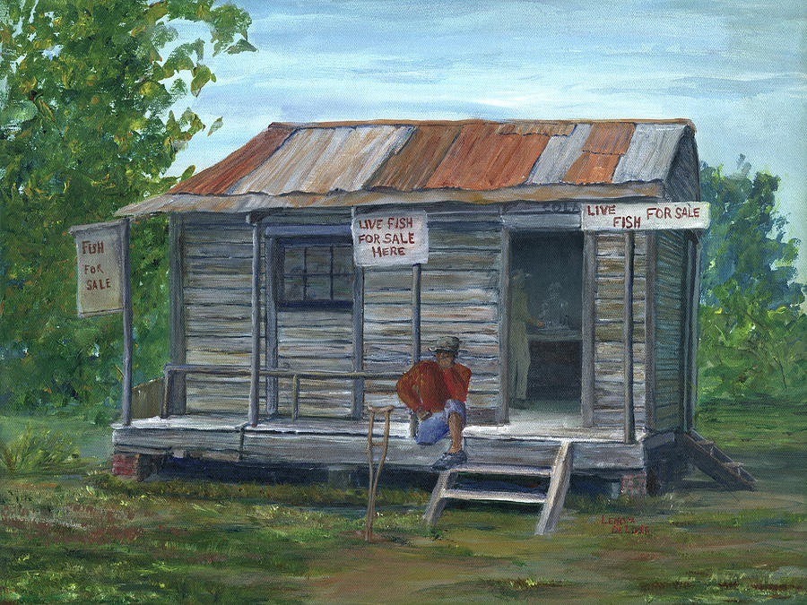 Fish Store, Natchitoches Parish, Louisiana by Lenora De Lude