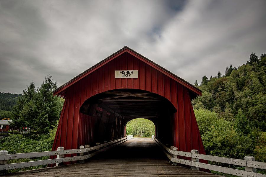 Fisher School Covered Bridge by Bill Posner