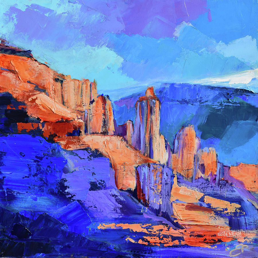 Fisher Towers Light and Shadow - Moab  by Elise Palmigiani
