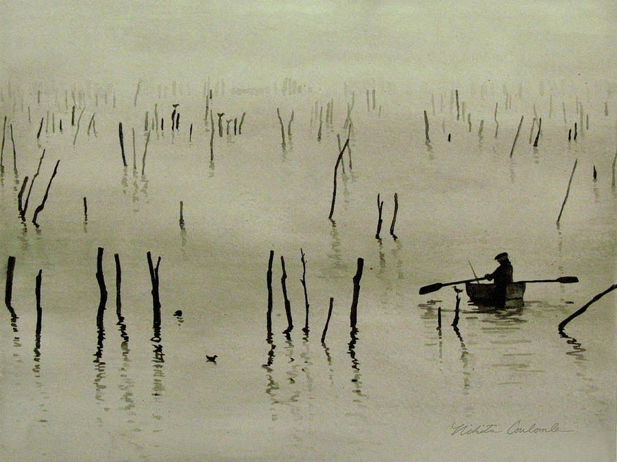 Fisherman in the Mist by Nikita Coulombe
