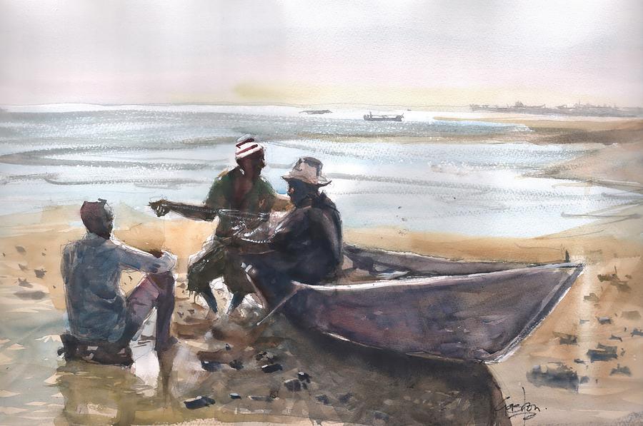 Fishermen by Gaston McKenzie