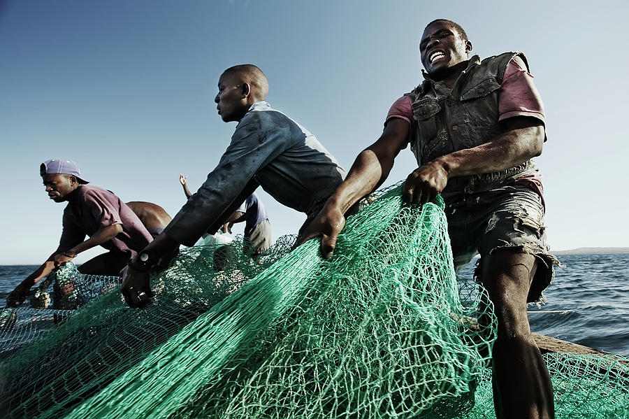 Fishermen Pulling In Net In Water Photograph by Cultura Rm Exclusive/led