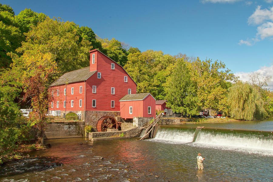 Fishing at The Red Mill 2 by Kristia Adams