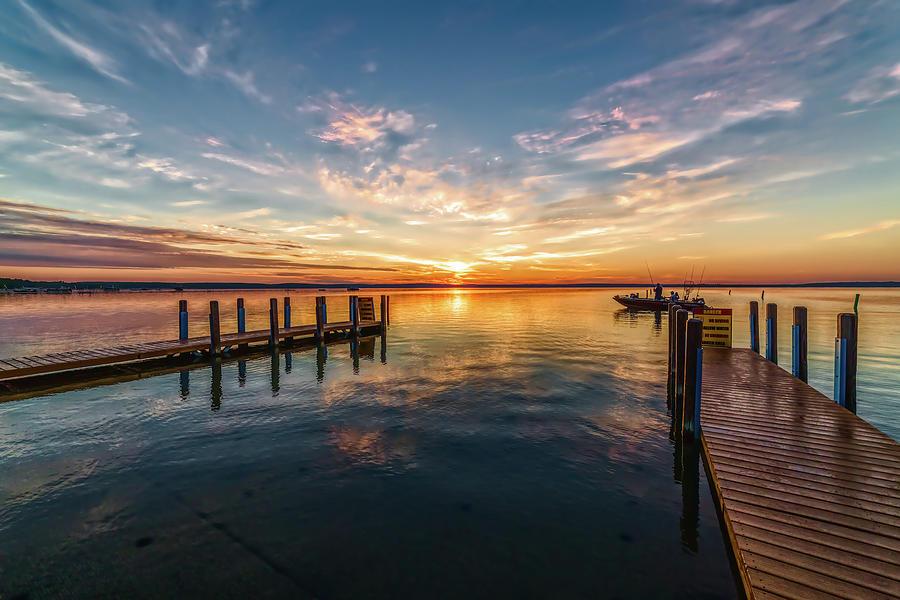 Fishing at Sunrise by Joe Holley