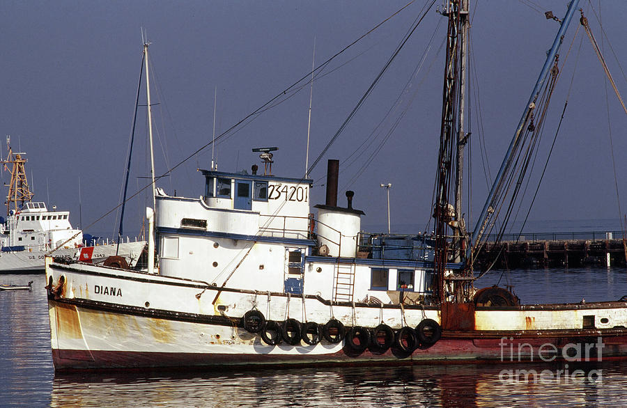 Fishing boat Diana owned by Pietro Maiorana, Monterey by California Views Archives Mr Pat Hathaway Archives