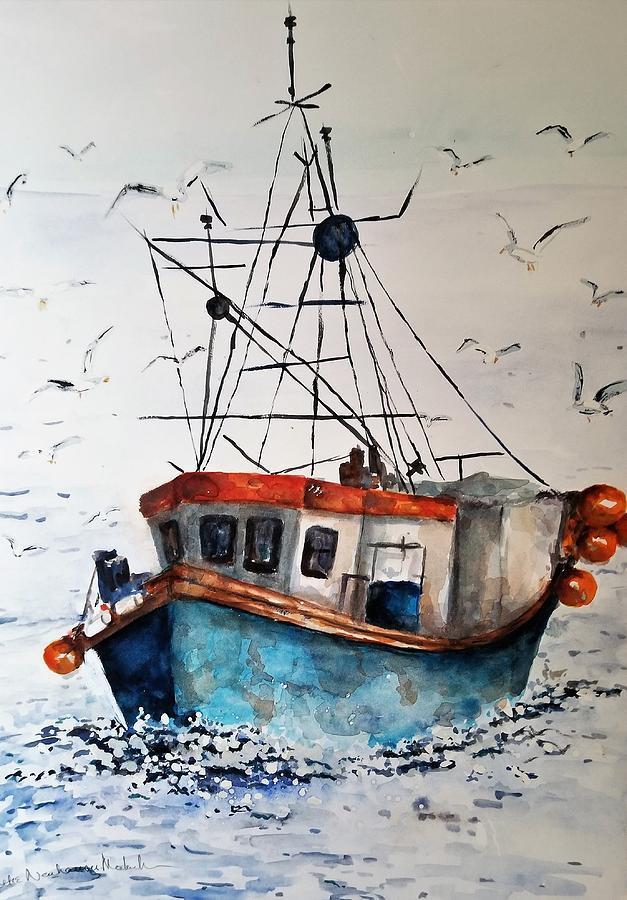 Fishing Boat in Noyo Harbor by Lettie Neuhauser-MacLachlan