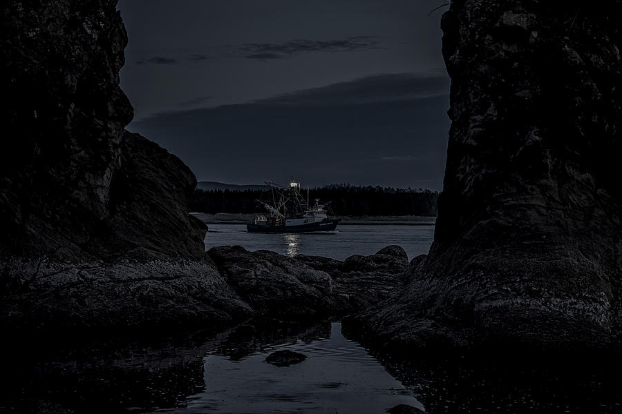 Fishing Boat Passing by the Three Graces by Johanna Froese