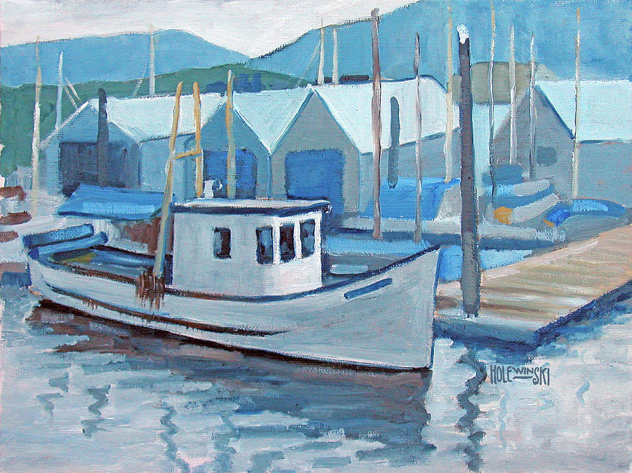 Fishing Boat Painting - Fishing Boat Vancouver by Robert Holewinski