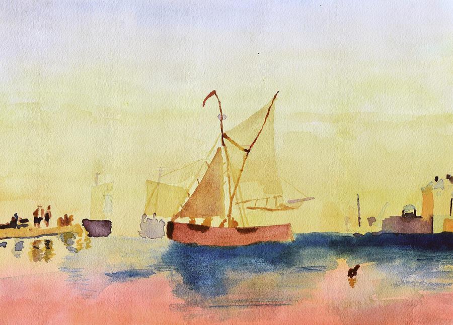 Fishing Boats - After R P Bonington by Paul Thompson