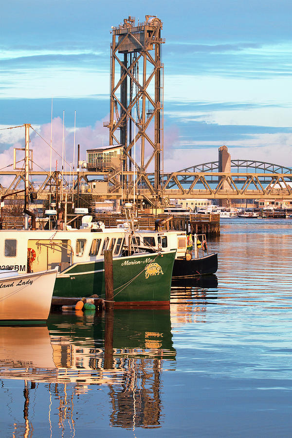 Fishing Boats Photograph - Fishing Boats And Bridges by Eric Gendron