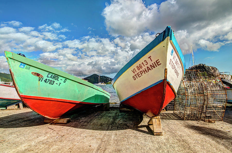 Fishing boats in Frenchtown by Gary Felton