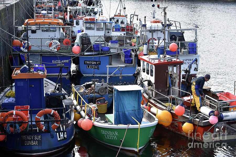 Fishing Fleet Dunbar by Yvonne Johnstone