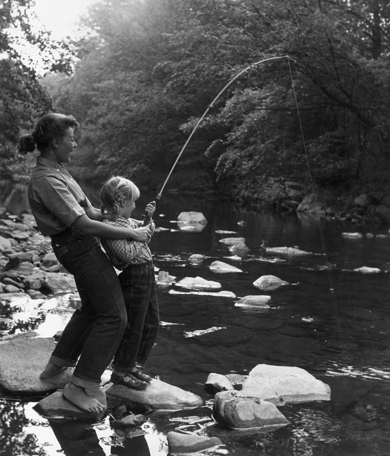 Fishing For Fun Photograph by Hulton Archive