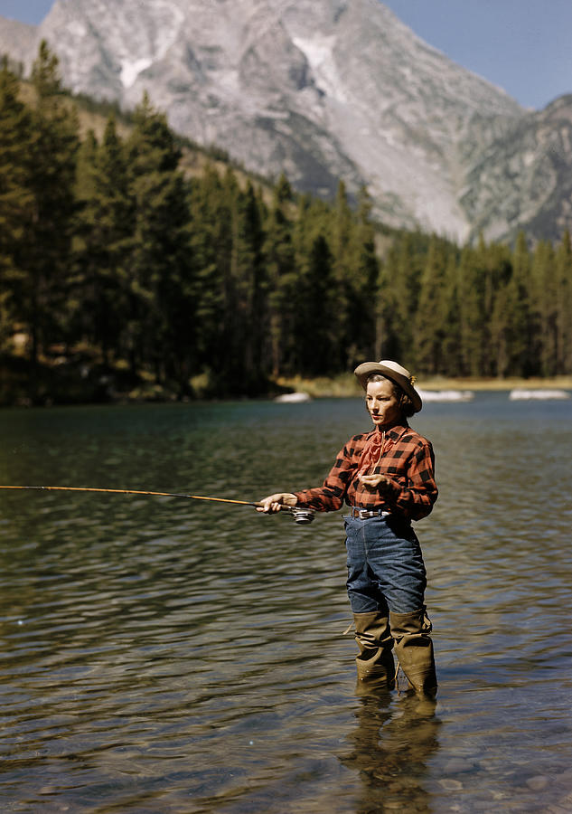 Fishing For Trout Photograph by Alfred Eisenstaedt