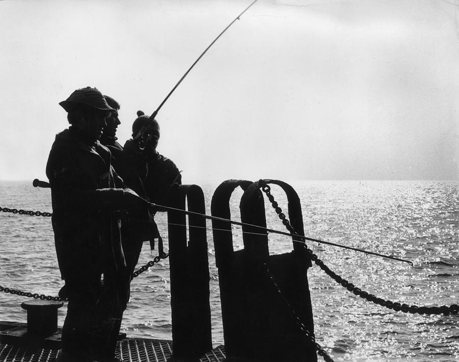 Fishing Friends Photograph by H. V. Drees