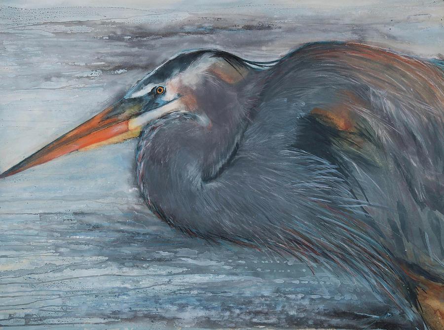 Fishing Heron by Jani Freimann