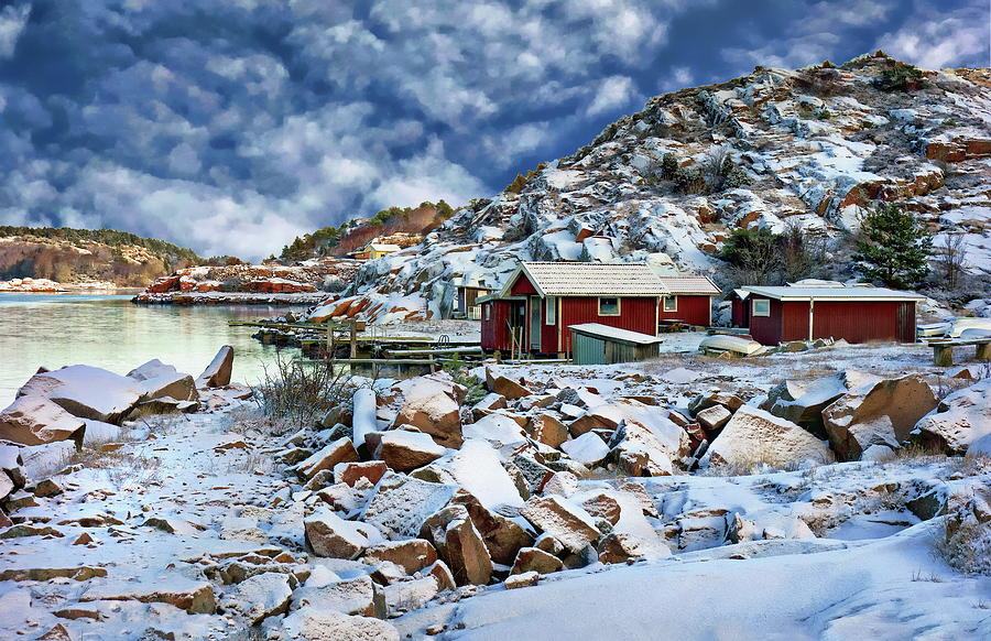 Fishing Huts in Winter by Anthony Dezenzio