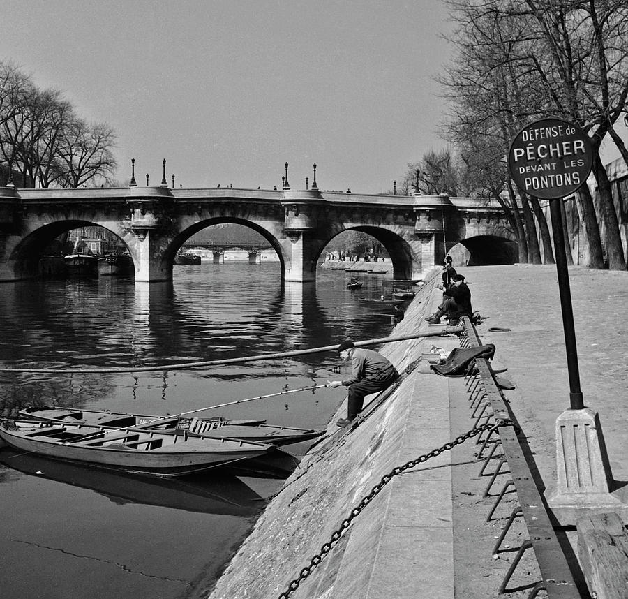 Fishing In Paris Photograph by Slim Aarons