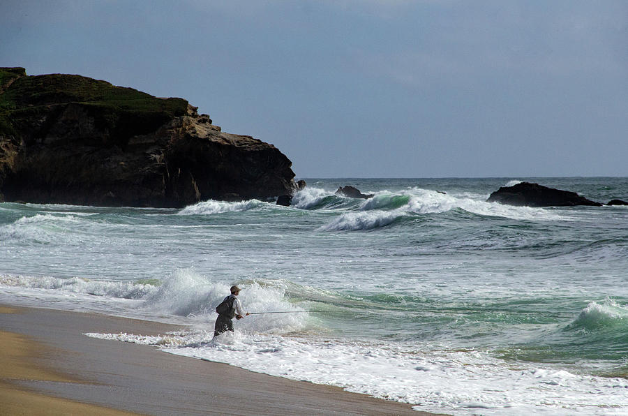 Fishing in the Surf by Marie Leslie