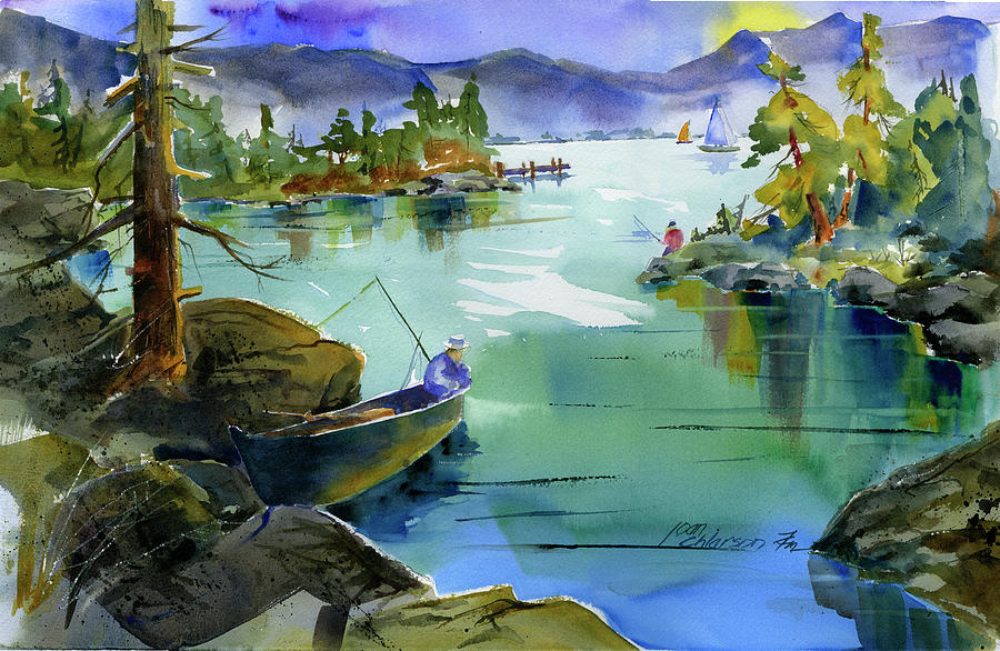 Fishing Lake Tahoe by Joan Chlarson