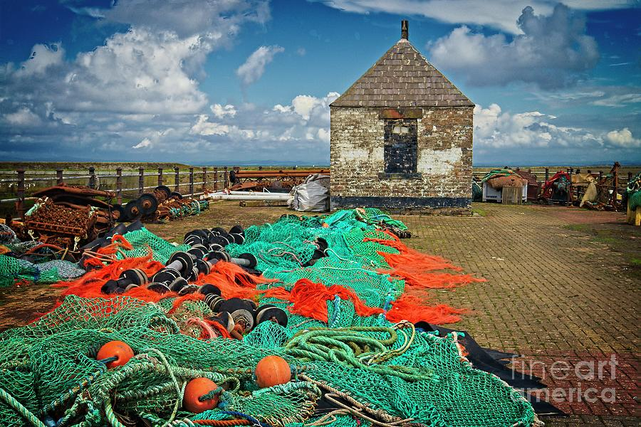 Fishing Nets at Maryport by Martyn Arnold