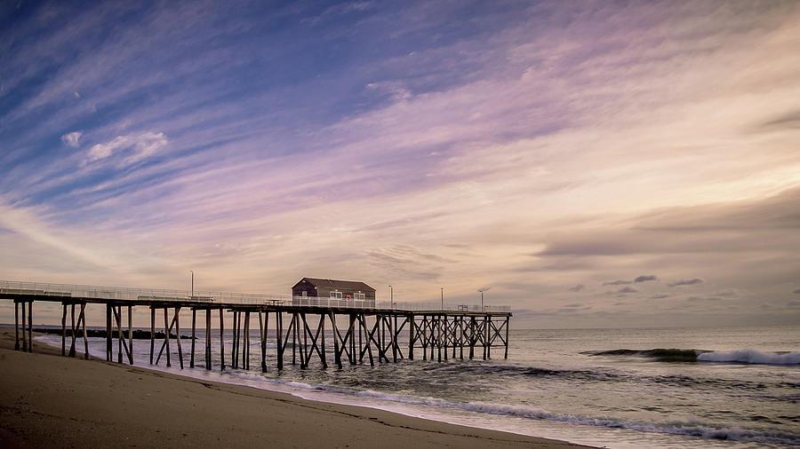 Sunrise Photograph - Fishing Pier Sunrise by Steve Stanger