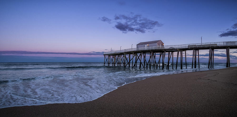 fishing pier sunset by Steve Stanger