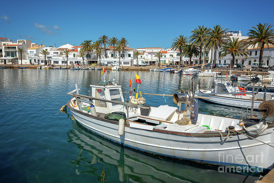 Menorca Photograph - Fishing Port In Menorca by Delphimages Photo Creations