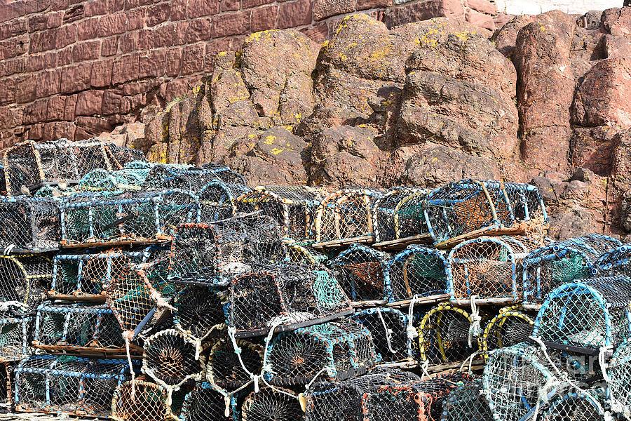 Fishing Pots Dunbar Harbour by Yvonne Johnstone